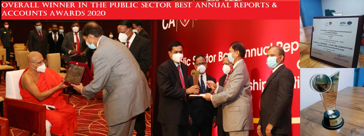 Overall Winner in the Public Sector Best Annual Reports & Accounts Awards 2020